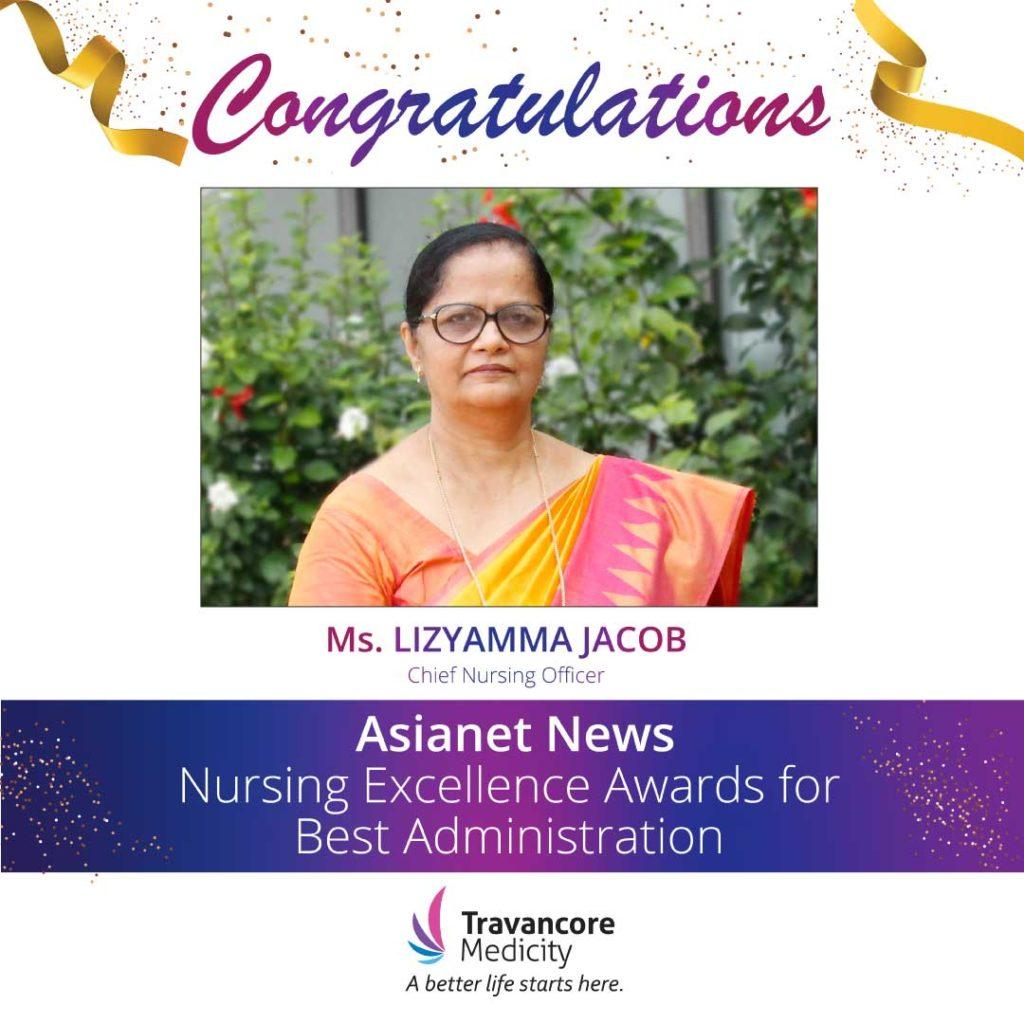 Lizyamma | Nursing Excellence Awards | Travancore Medicity